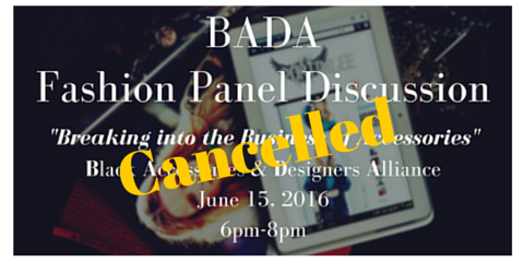 "Postponed - ""How To Start An Accessory Business Line"" [BADA Talk] , Brooklyn, New York"