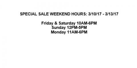 Floor Sample Sale, Anchorage, Alaska