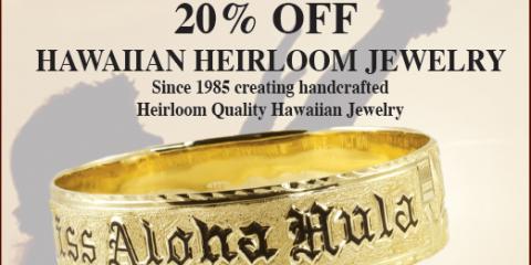 20% Off Hawaiian Heirloom Jewelry at Merrie Monarch, Waimea, Hawaii