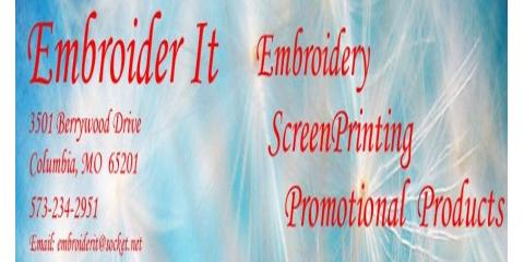 Embroider it in columbia mo nearsay for T shirt printing columbia mo