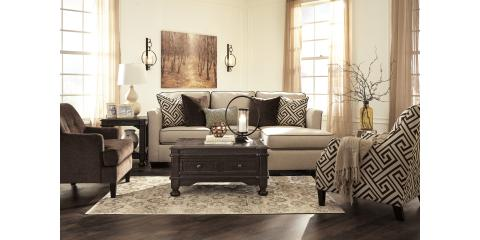 SOFA CHAISE AND ACCENT CHAIR-CARLINWORTH BY ASHLEY-$1029, Maryland Heights, Missouri