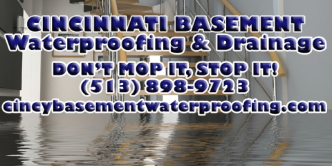 Cincinnati Basement Waterproofing & Drainage, Foundation Repairs, Services, Cincinnati, Ohio
