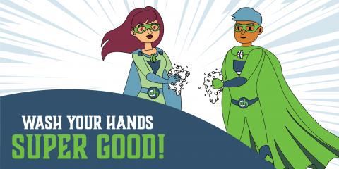 Even Super Heroes Wash Their Hands!, Gatesville, Texas