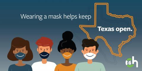 Wearing a Mask Helps Keep Texas Open, Gatesville, Texas