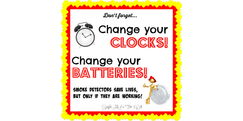 If you didn't do so already... don't forget!!  And your CO2 detector batteries too!, Forked River, New Jersey