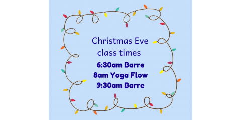 Barre Class added for Christmas Eve!, St. Charles, Missouri