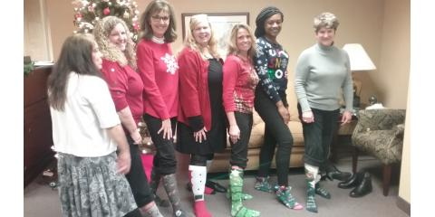 SMC Greensboro Office Celebrates with Holiday Sock Style, Greensboro, North Carolina