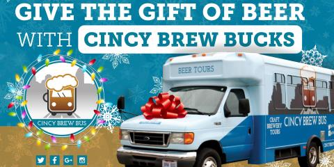 10% Off Gift Cards for Cincy Brew Bus Tours, Cincinnati, Ohio