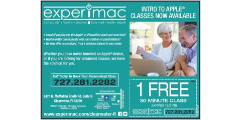 One-On-One Apple® Training Class Specials, Clearwater, Florida