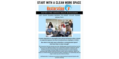 START WITH A CLEAN WORK SPACE, Sugar Creek, Indiana