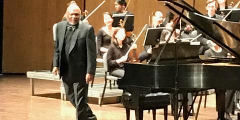 Pianist Cliff Jackson knocks it out of the park with the U of K Symphony last night!, Louisville, Kentucky