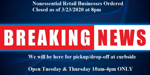 Klass Jewelers : Nonessential Retail Businesses Ordered to Close 3-23-20, ,