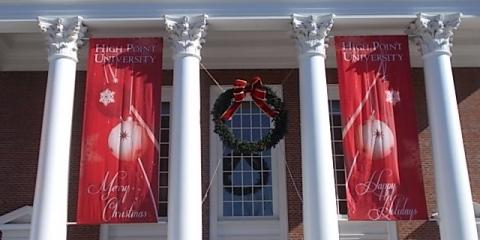 How to Use Custom Signs for Campus Holiday Decor, Greensboro, North Carolina