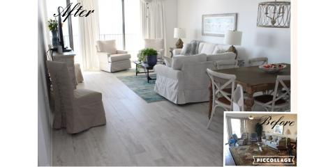 The floor in this living room remodel turned out absolutely beautiful, Foley, Alabama