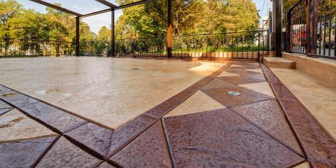 3 Ways to Use Stamped Concrete on a Patio, Anchorage, Alaska