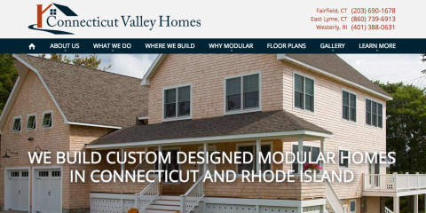 Connecticut Valley Homes Launches New Website, Fairfield, Connecticut