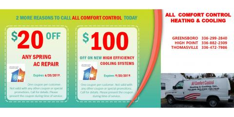 Great Savings from All Comfort Control, Thomasville, North Carolina