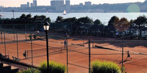 See the RCTA's court resurfacing video to see how red clay courts are built, New York, New York