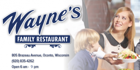 Thanksgiving at Wayne's, We are Thankful for You!!, Oconto, Wisconsin