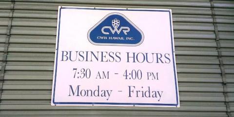 CWR Hawaii Inc., Marine Equipment & Supplies, Services, Honolulu, Hawaii