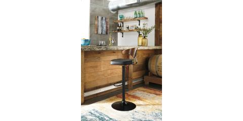 ADJUSTABLE HEIGHT BARSTOOLS BY ASHLEY-SET OF 2-$220, St. Louis, Missouri