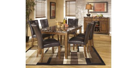 DINING TABLE & 6 CHAIRS – LACEY – FAUX MARBLE-$774, Maryland Heights, Missouri