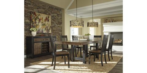 DINING TABLE AND 8 CHAIRS – EMERFIELD BY ASHLEY - $1,155, ,
