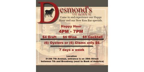 Desmond's Steakhouse Offers The Best Happy Hour in NYC , Manhattan, New York