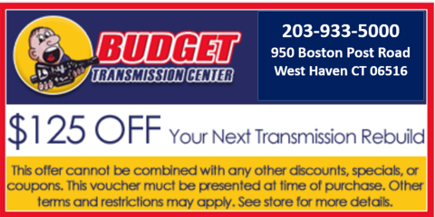 $125 Off Your Next Transmission Repair or Rebuild!, West Haven, Connecticut