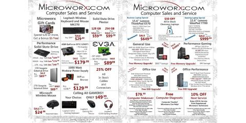 Microworx Holiday Specials, Brighton, New York
