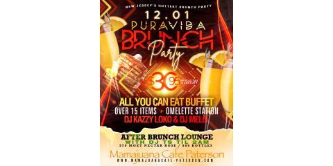 PURA VIDA BRUNCH PARTY- DECEMBER 1st - MAMAJUANA CAFE PATERSON, Paterson, New Jersey