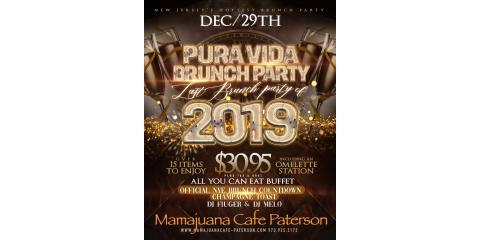 PURA VIDA BRUNCH PARTY- DEC 29th- MAMAJUANA CAFE PATERSON, Paterson, New Jersey