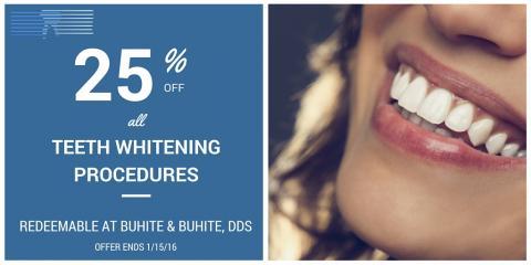 25% off All Teeth Whitening Procedures, Irondequoit, New York