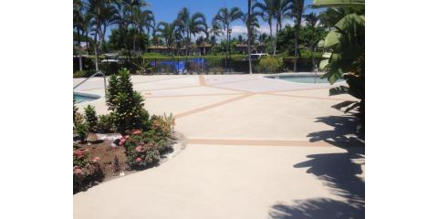 Kailua-Kona's Masonry Pros on Stamped & Stone Decking, Kailua, Hawaii