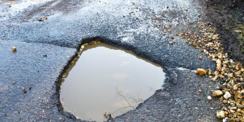 How Potholes Develop on Driveways, East Earl, Pennsylvania
