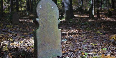 How to Address Lichen Growth on a Tombstone, Mount Orab, Ohio