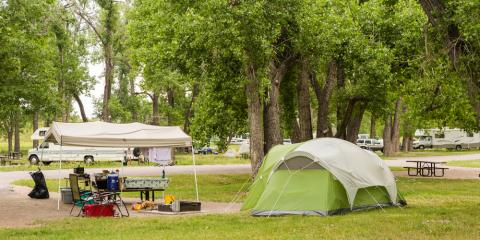 RV Camping Vs. Tent Camping, Palo Pinto-Santo, Texas