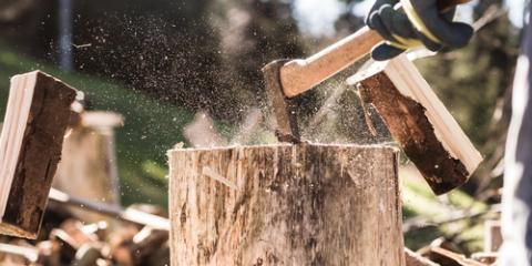 How to Cut Hardwood Lumber Into Firewood, Middlefield, Ohio