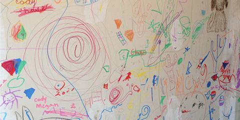 Doodle Wall...Great Idea!!, Springdale, Ohio