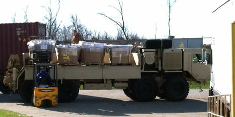 Donation For 810th Quartermaster Company, Mason, Ohio