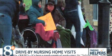 Westby's Norseland Nursing Home Has Drive By Visit Parade, La Crosse, Wisconsin