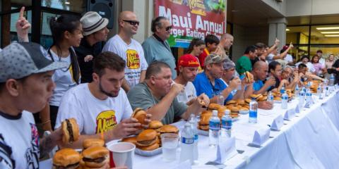 3 Tips on Training for a Burger-Eating Contest, Kihei, Hawaii