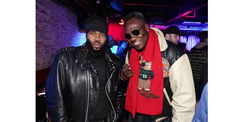 Dj Scripz And Pharoahe Monch At YRB Magazine Holiday Event , Manhattan, New York