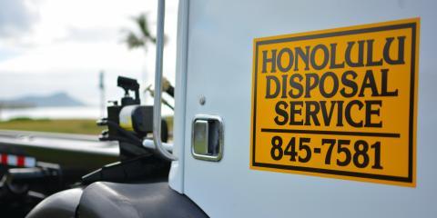 Honolulu Disposal Service Is Now Hiring, Honolulu, Hawaii