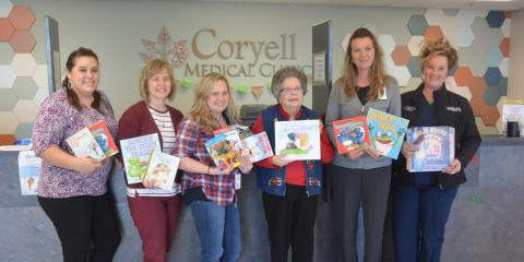 Coryell Medical Clinic Receives Books, Gatesville, Texas