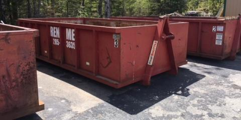 3 Items You Shouldn't Throw in a Dumpster Container, Rainy Lake, Minnesota