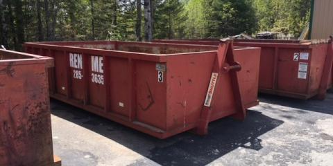 Why Dumpsters Are More Efficient Than Dumpster Bags, Rainy Lake, Minnesota