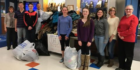 Leading Oil Delivery Company Holds Successful Coat Drive With Local High School, Moodus, Connecticut