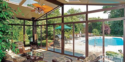 Lovely 3 Glass Roof Designs That Let You Create A Beautiful Sunroom   Patio  Enclosures   East Rochester | NearSay