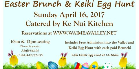 Bask in the Botanical Garden at the Easter Brunch & Keiki Egg Hunt, Koolauloa, Hawaii